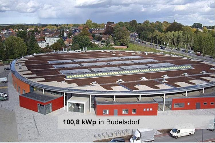Solaranlage in Büdelsdorf mit 100,8 kWpo Leistung