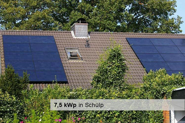 Solaranlage mit 7,5 kWp in Schülp