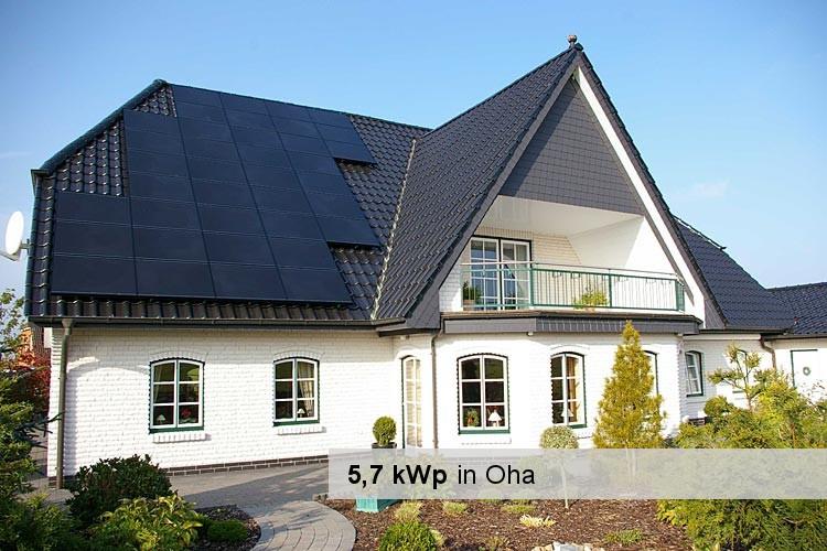 Solaranlage mit 5,7 kWp Leistung